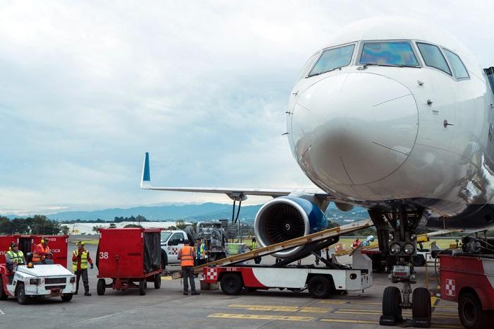 Air cargo at Los Angeles International Airport, California.