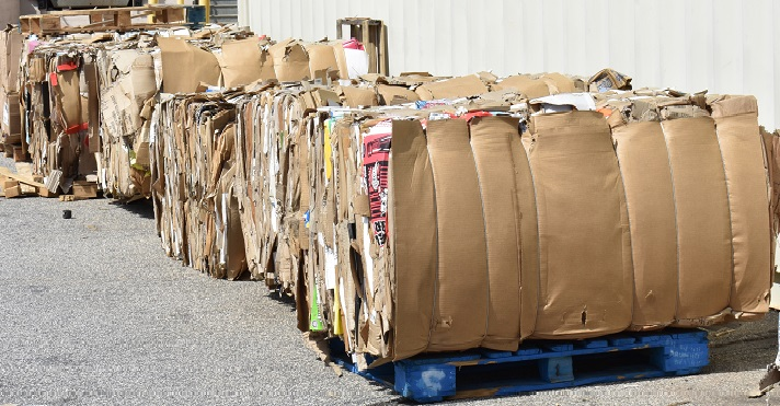 Cardboard recycling South Carolina, United States.
