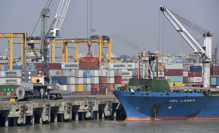 Containers at Chittagong port.