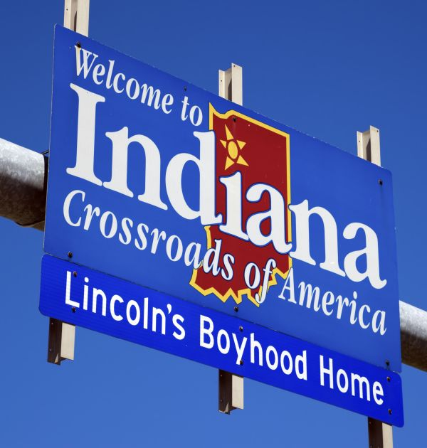 Indiana highway sign