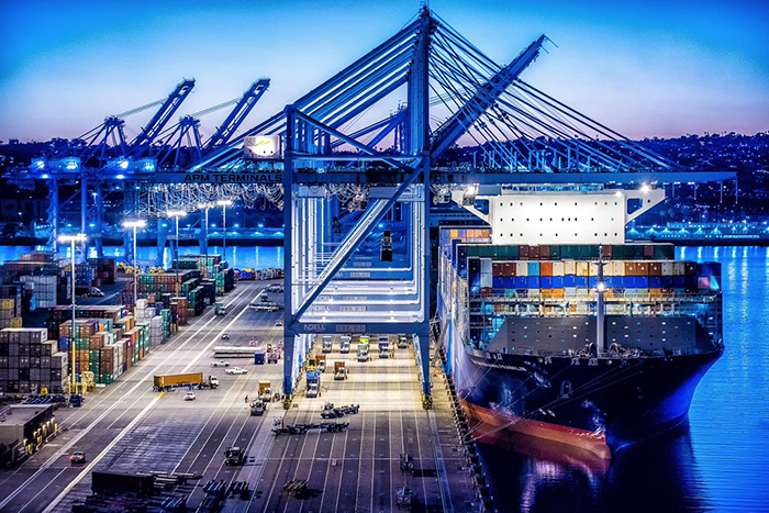 APM Terminals in Los Angeles. Photo credit Port of Los Angeles