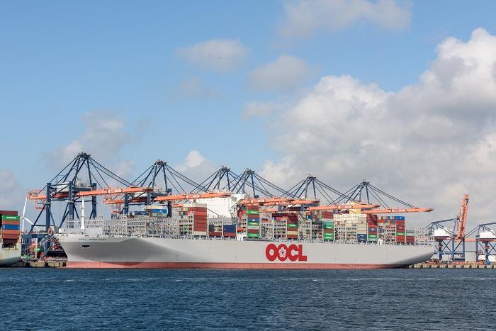 An OOCL ship.