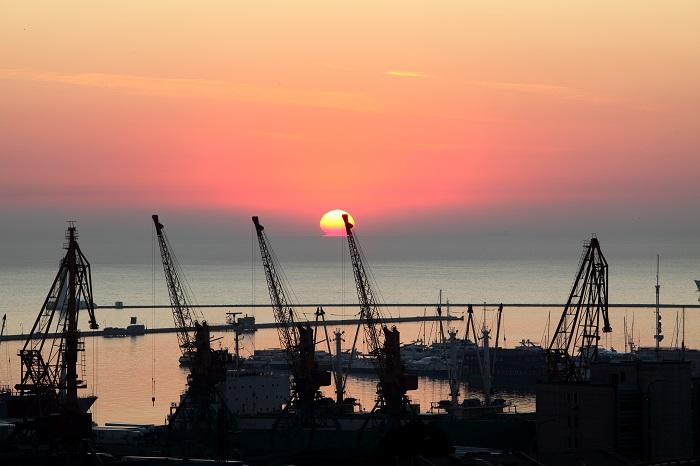 Odessa port, Ukraine.