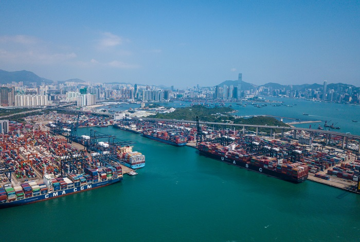 Port of Hong Kong.