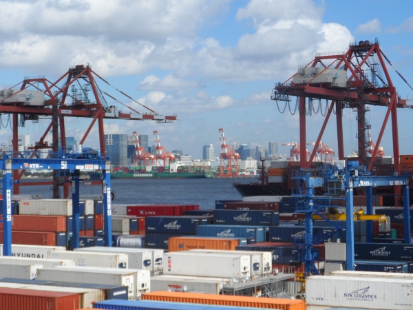 NYK's container terminal at the Port of Tokyo
