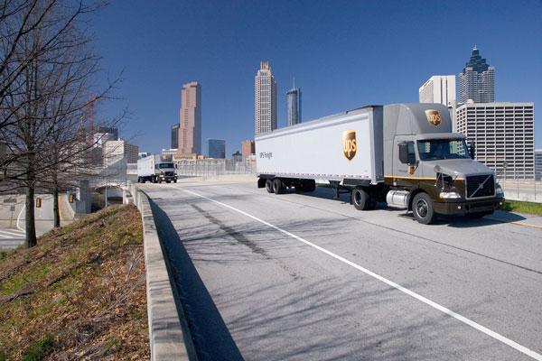 UPS Freight trucks