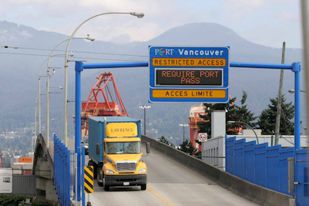 truck at Port Metro Vancouver_overpass