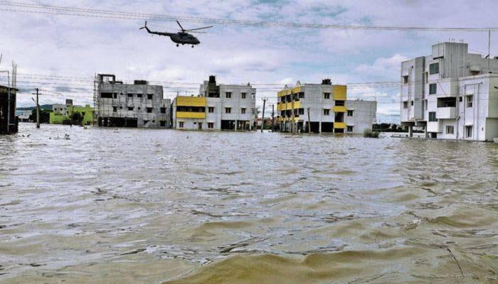 Heavy Flooding Cripples Chennai Port Operations