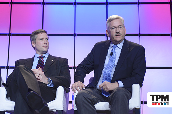 From left: Adam D. Hall, Dollar General; Klaus Schnede, Eastman Chemical.
