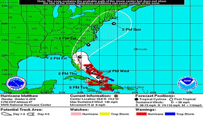 Liners Southeast US Ports Gird For Hurricane Matthew - Us southeast
