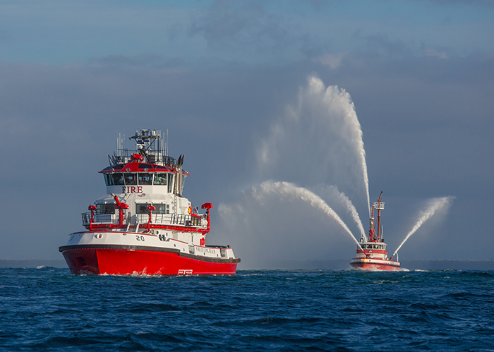 The Protector Has 10 Water Cannons Capable Of Shooting Or Foam A Distance 600 Port Long Beach S