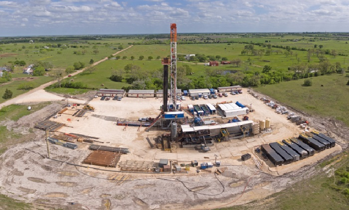 A Texas oil and gas well.