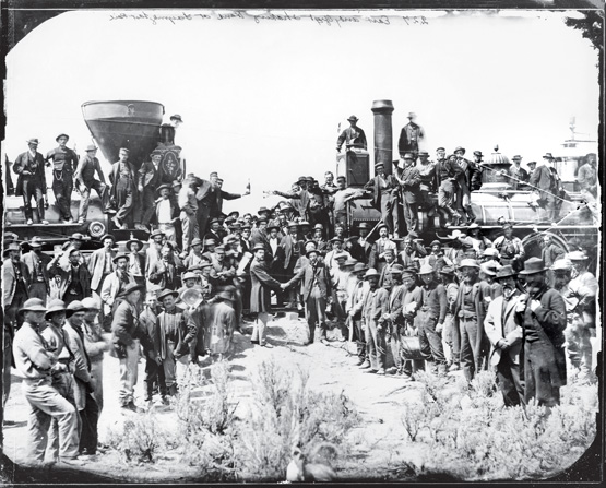 history of the completion of the transcontinental railroad by union pacific and central pacific The transcontinental railroad: transforming california and the nation this excerpt details the origins of the central pacific railroad, completion of the transcontinental railroad the union pacific railroad was a paradox: prematurely built, but lagging behind.