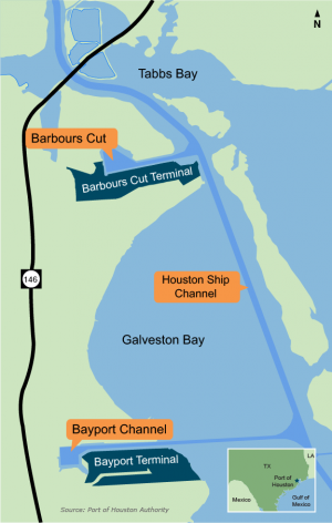 Houston Gets Bayport Dredging Permit - Port of houston map