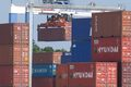 Containers unloaded at Port of Charleston, S.C.