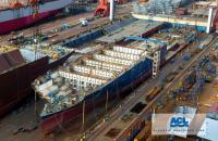 A new ACL Ro-Ro/Container ship currently under construction