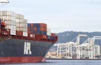 An APL container ship.