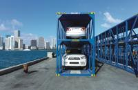 Bilevel automobile container used by Seaboard Marine.