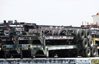 Chassis at the Port of Los Angeles.
