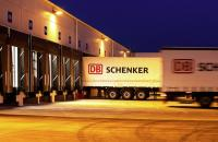 DB Schenker truck at warehouse