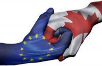 Clasped hands: EU, Canada