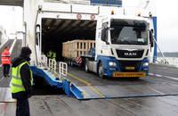 Cargo being unloaded.