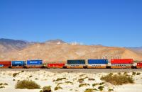 Intermodal rail in California.