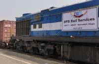 Intermodal rail at JNPT.