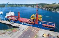The 14,000 dwt Zea Focus, one of the F-900 ships that will be moving South Flank cargo.