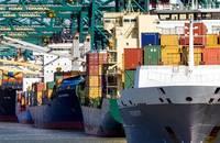 Antwerp port.
