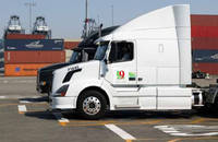 Trucks at the Port of Los Angeles.