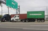 Trucks at Port of New York and New Jersey (Newark).
