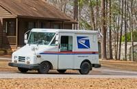 A US Postal Service truck.