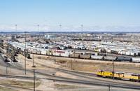 Union Pacific rail yard, Nebraska, United States.