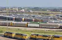 A Union Pacific rail yard.
