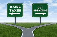election choice_higher taxes_spending cuts