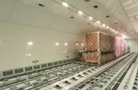 Air cargo inside a freighter