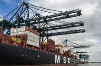 An MSC ship.