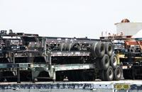Chassis at the Port of Long Beach.