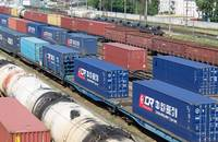 A freight train in China.