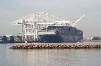 Feeder vessels take cargo delivered to transshipment hubs and gateway ports by mega-ships, such as the CMA CGM Benjamin Franklin, pictured, to smaller ports unable to handle such behemoths.