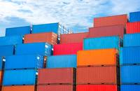 Containers stacked.