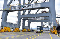 DP World Yarimca in Turkey, pictured, was one of several ports on which the company spent a total of $586 million in the first half.