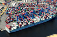 HHLA Container Terminal Tollerort at the Port of Hamburg, pictured, must cope with volume declines due mainly to lower Asia-Europe traffic.
