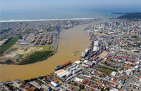 The terminals overseen by the Itajai Port Authority, pictured, are in desperate need of emergency dredging that was promised by the government but has failed to materialize.