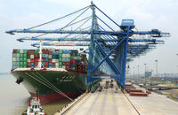The flow of cargo crossing the docks of Westports' facilities in Port Klang, pictured, could begin to slow starting in 2018.