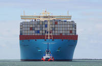 Maersk Magleby container ship.