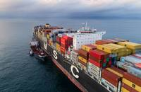 MSC container ship bunkering.