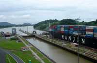 Sights such as this one, a Panamax ship transiting the old Panama Canal locks, are set to become increasingly rare as container lines upsize tonnage to take advantage of better economies of scale made possible by the canal's addition of newer larger locks.