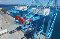 APMT hopes that new cranes able to handle some of the largest mega-ships afloat, pictured, will help transform Pecem, Brazil, into a regional container hub.